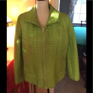 Additions by Chico's lime green jacket - L